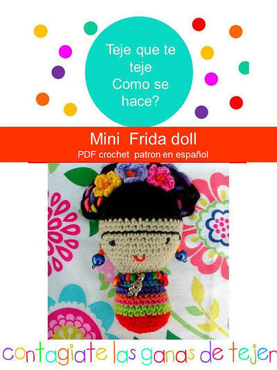 Patrón Frida Kahlo Amigurumi - Mini Frida Doll