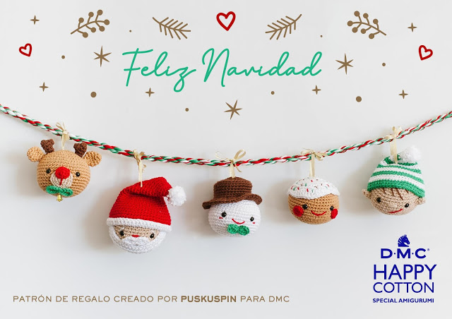 Patrón de ganchillo Navideño con Happy Cotton de Puskuspin