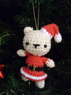 Patrón de Osa de Navidad Amigurumi