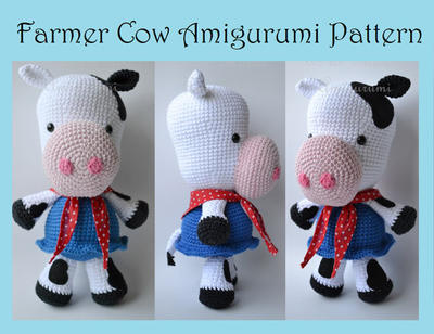 Vaca Lola Crochet Amigurumi - $ 500,00 en Mercado Libre | 308x400