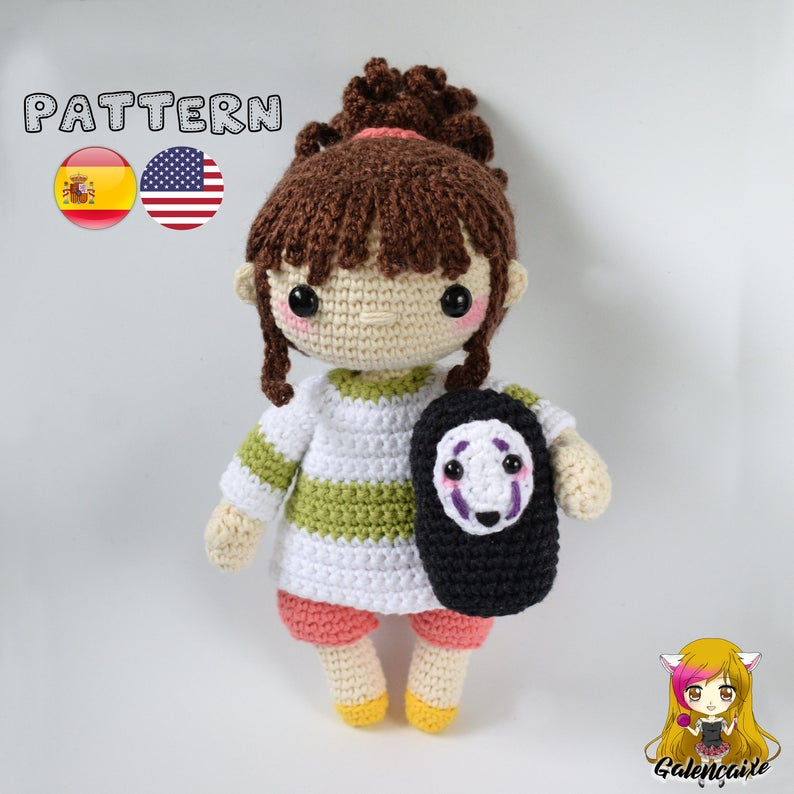 Crochet PATTERN Chihiro and No Face