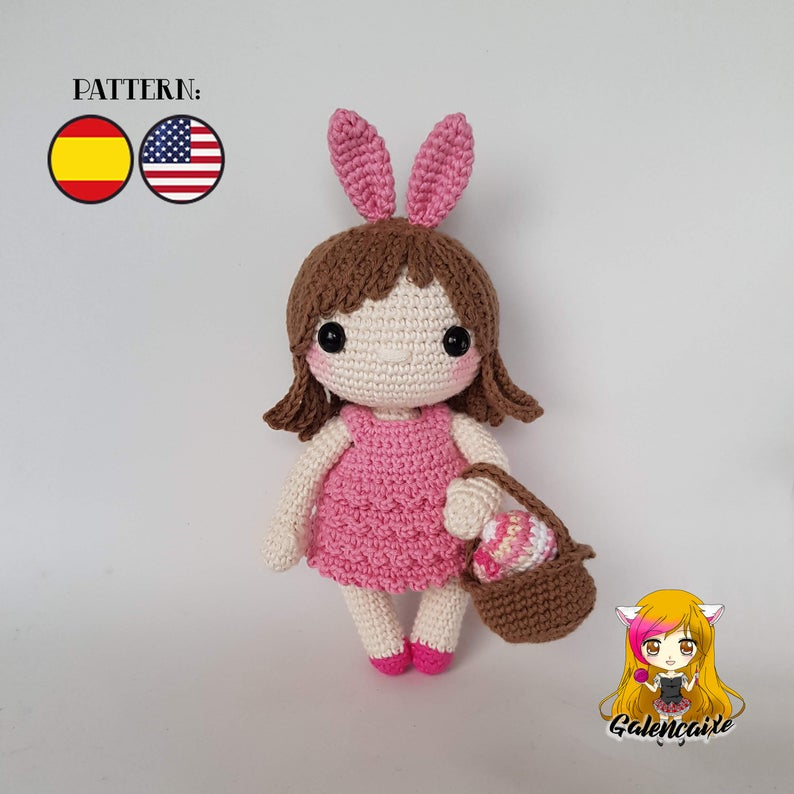 Crochet PATTERN Claudi the Bunny doll Easter