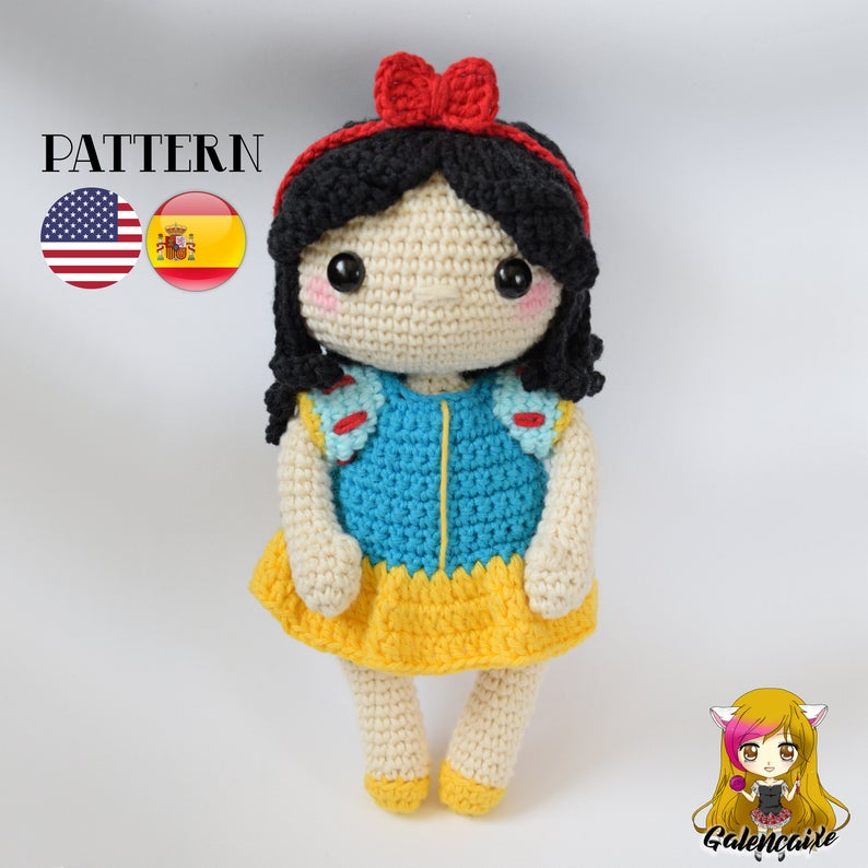 Crochet PATTERN Snow White