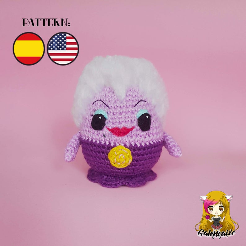 Crochet PATTERN Ursula villainous The little mermaid