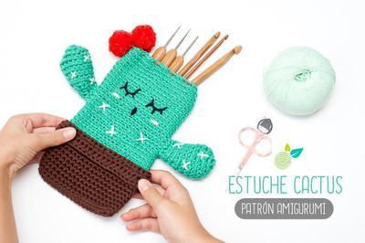 cactus a crochet (alfiletero y kit de costura) - Ahuyama Crochet | 266x400