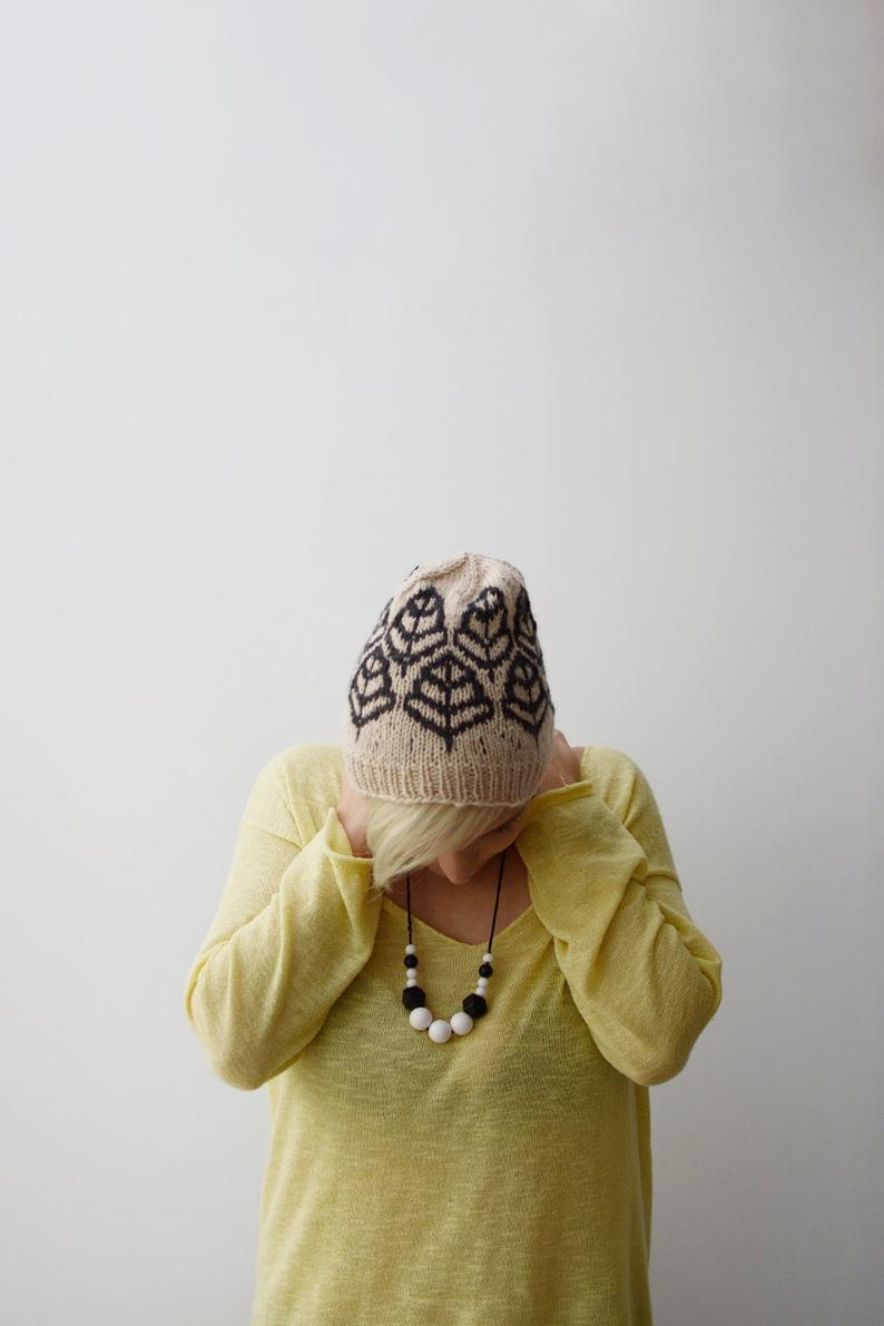 Undergrowth Beanie Knitting Pattern