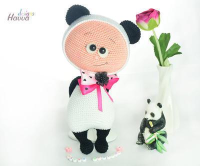 Amigurumi Oso Panda Patron : Patrones de panda donpatron