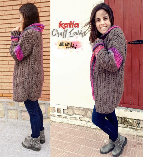Como hacer un abrigo de mujer a crochet