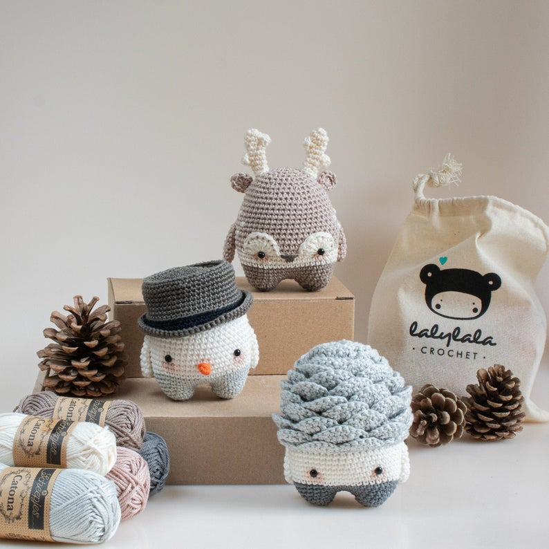 lalylala Crochet Kit WINTER lalylala 4 seasons, set of 3 amigurumi