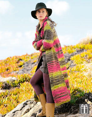 Patrones abrigo punto mujer