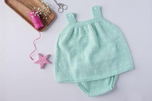 Conjunto bebé topitos mint