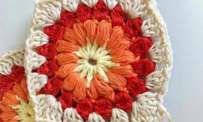 Granny Square Sunburst