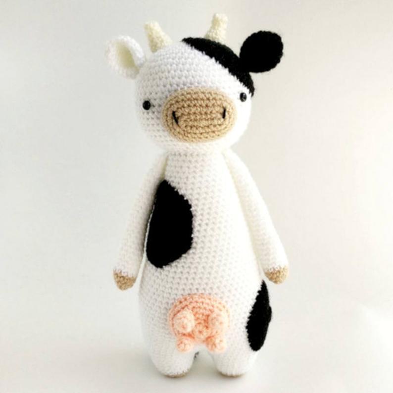 Amigurumi, Vaca, Crochet, Llavero, Ganado, Finca, Leche, Muu ... | 794x794