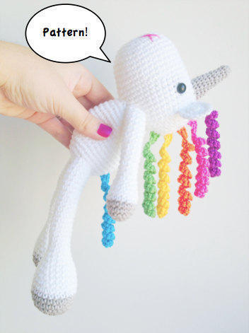 Lavender Unicorn Crochet Pattern ONLY not a finished product ... | 471x352
