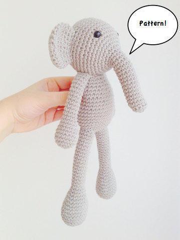 Best crochet amigurumi elefante ideas | 477x359
