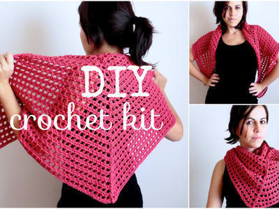 Kit DIY - CHAL triangular a crochet