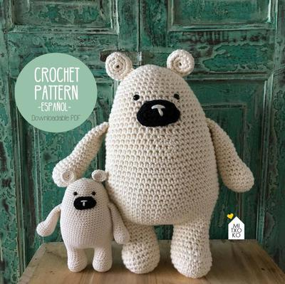Amigurumi crochet PDF Mr. Hugs the bear