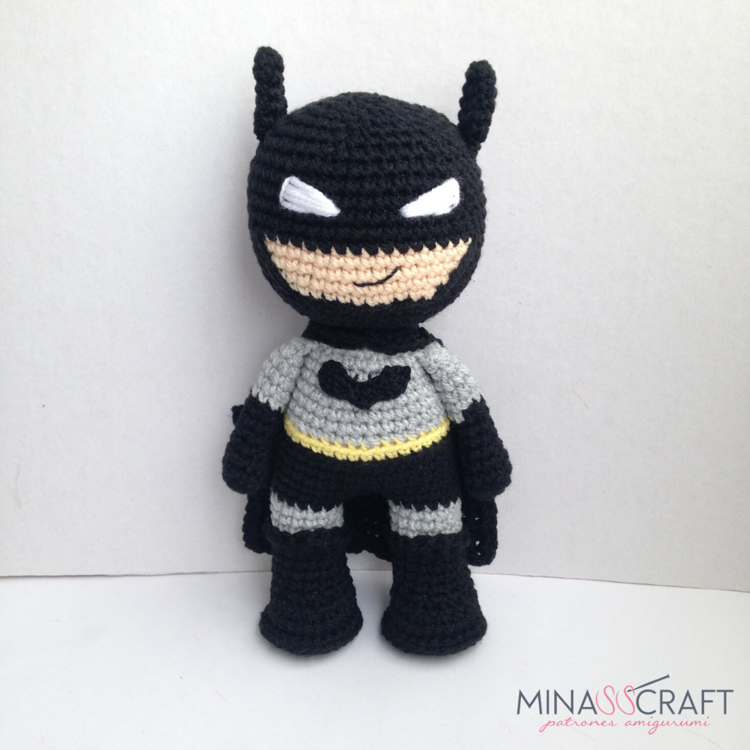 Ptrón Batman Amigurumi by Minasscraft