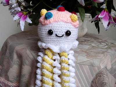 Medusa en crochet, patrón y esquema - | Patrón de marcadores ... | 300x400