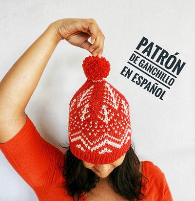 Patrón de ganchillo Gorro Winter Mountains