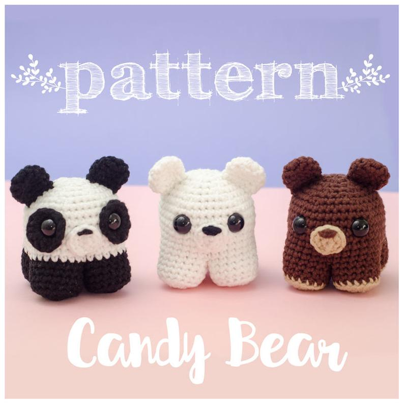 Patrón Candy Bears (3 ositos en 1)