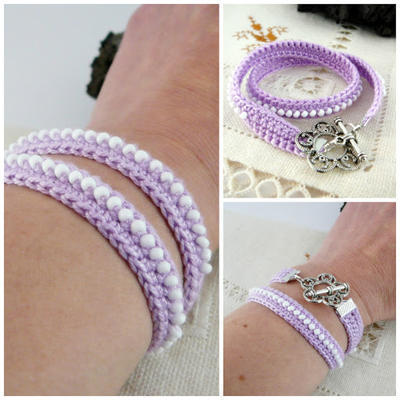 Pulsera Doble en Crochet