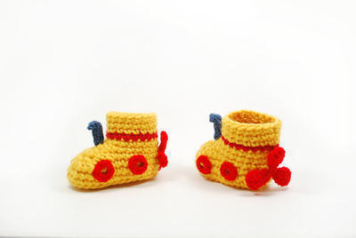 Yellow submarine baby boots