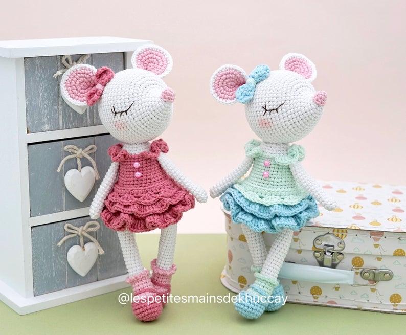 Patrón ratita amigurumi/ Amigurumi rat tutorial / crochet ideas ... | 655x794