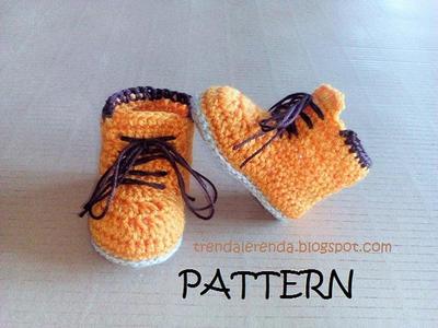 patron zapatitos crochet bebe converse