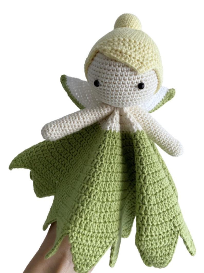 Patrón manta de apego a crochet de Campanilla