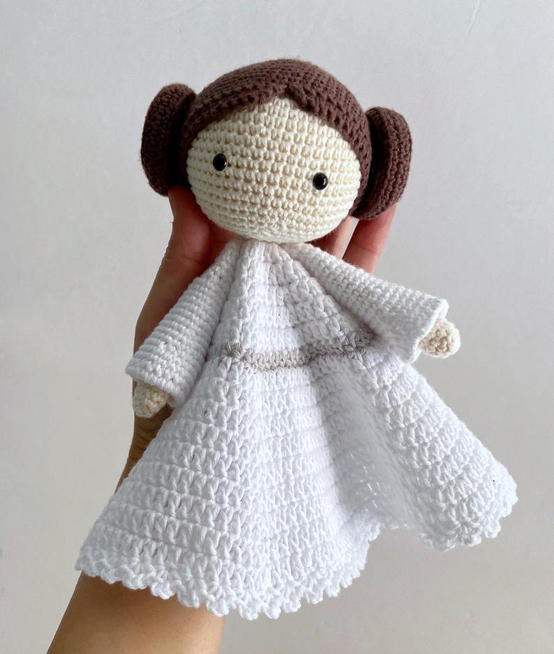 Patrón manta de apego Leia