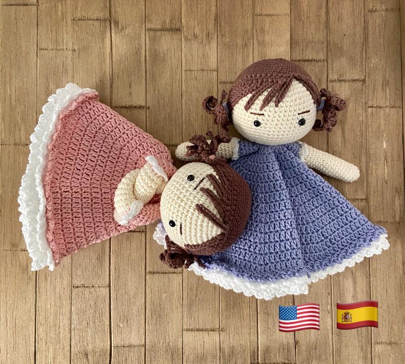Patrón manta de apego muñeca para bebés