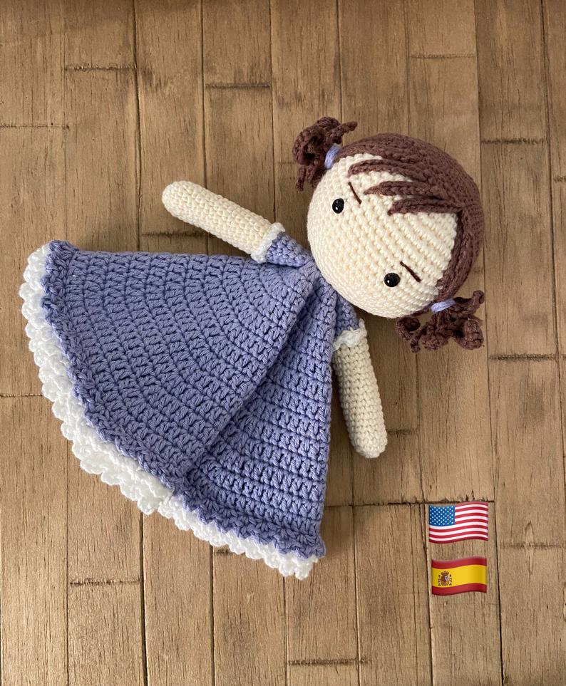 Patrón manta de apego muñequita