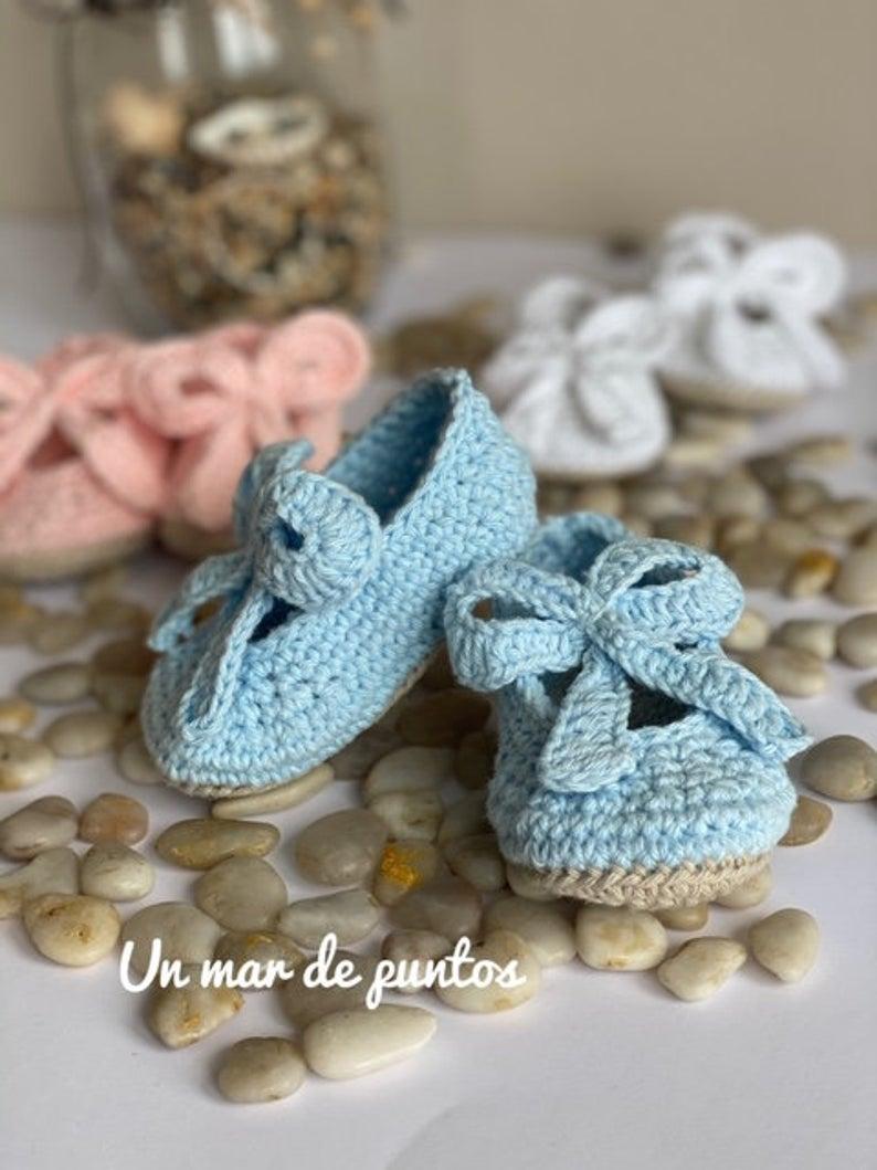 Tutorial sandalias para bebé de ganchillo