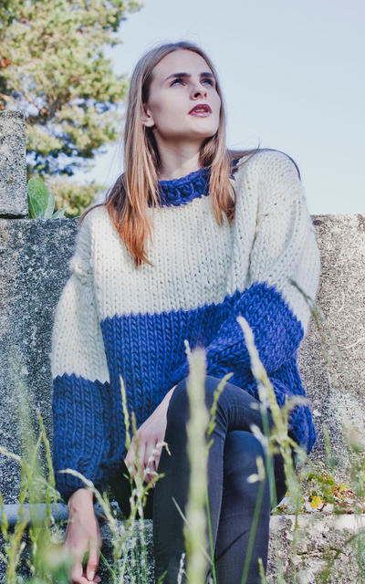 Canal Sweater knitting kit