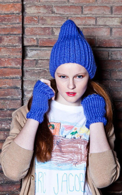 Medusa Warmers and Beanie knitting kit