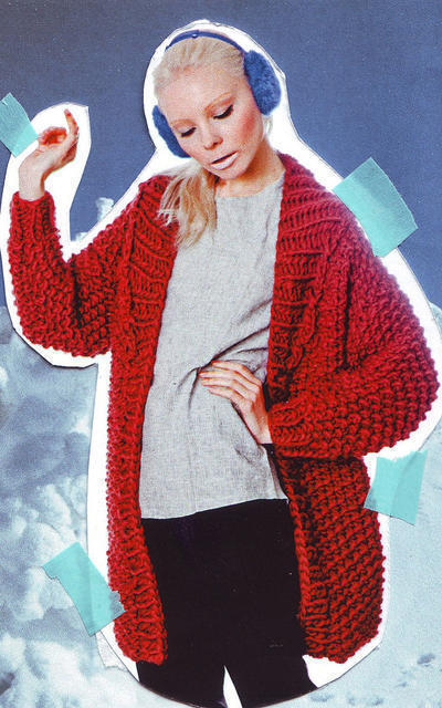Zermatt Cardigan knitting kit