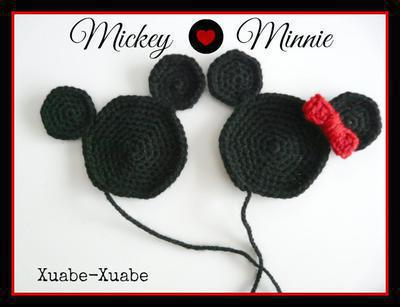 Aplique Mickey y Minnie